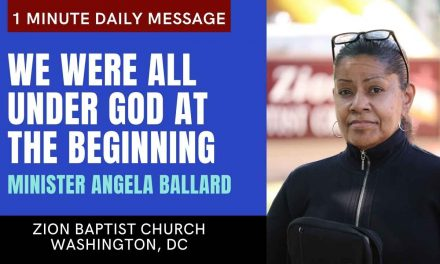 We Were All Under God at The Beginning | 1 Minute Daily A.M. Message