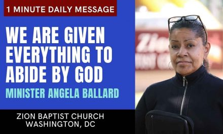 We Are Given Everything to Abide By God | 1 Minute Daily A.M. Message