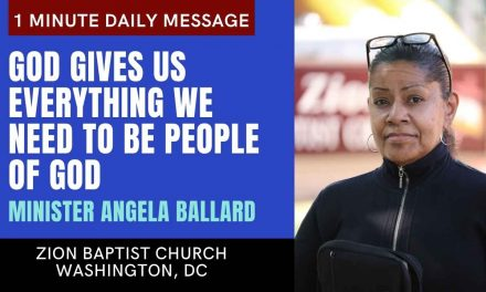 God Gives Us Everything We Need to Be People of God | 1 Minute Daily A.M. Message