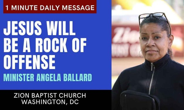 Jesus Will Be A Rock Of Offense